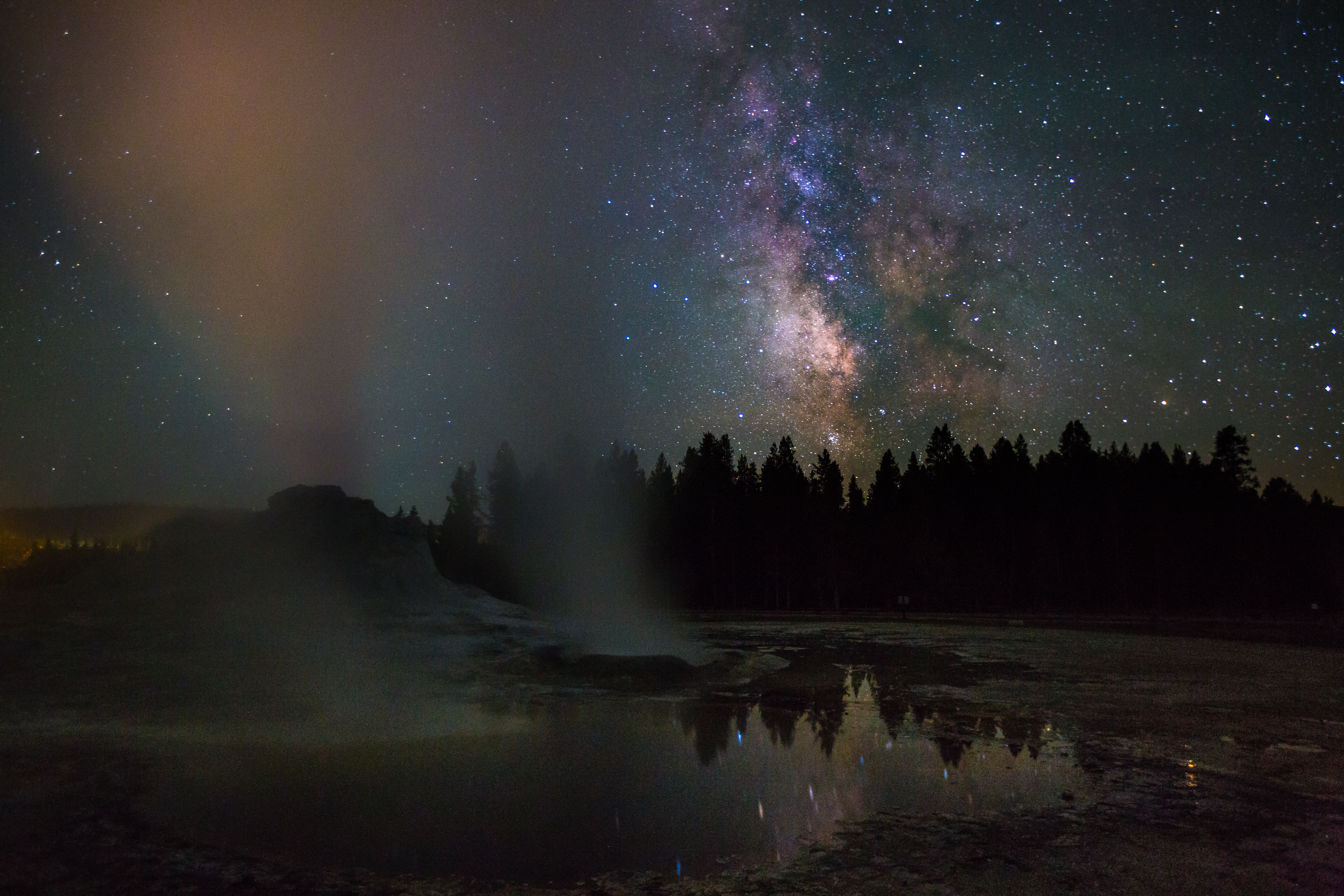 The Milky Way as seen from Yellowstone National Park.